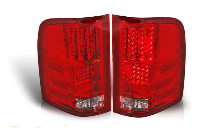 chevy silverado led tail light red clear performance q. Black Bedroom Furniture Sets. Home Design Ideas
