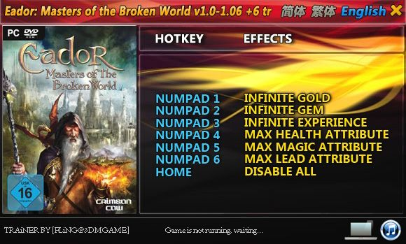 Eador: Masters of the Broken World v1.0-v1.06 +6 Trainer [FliNG]