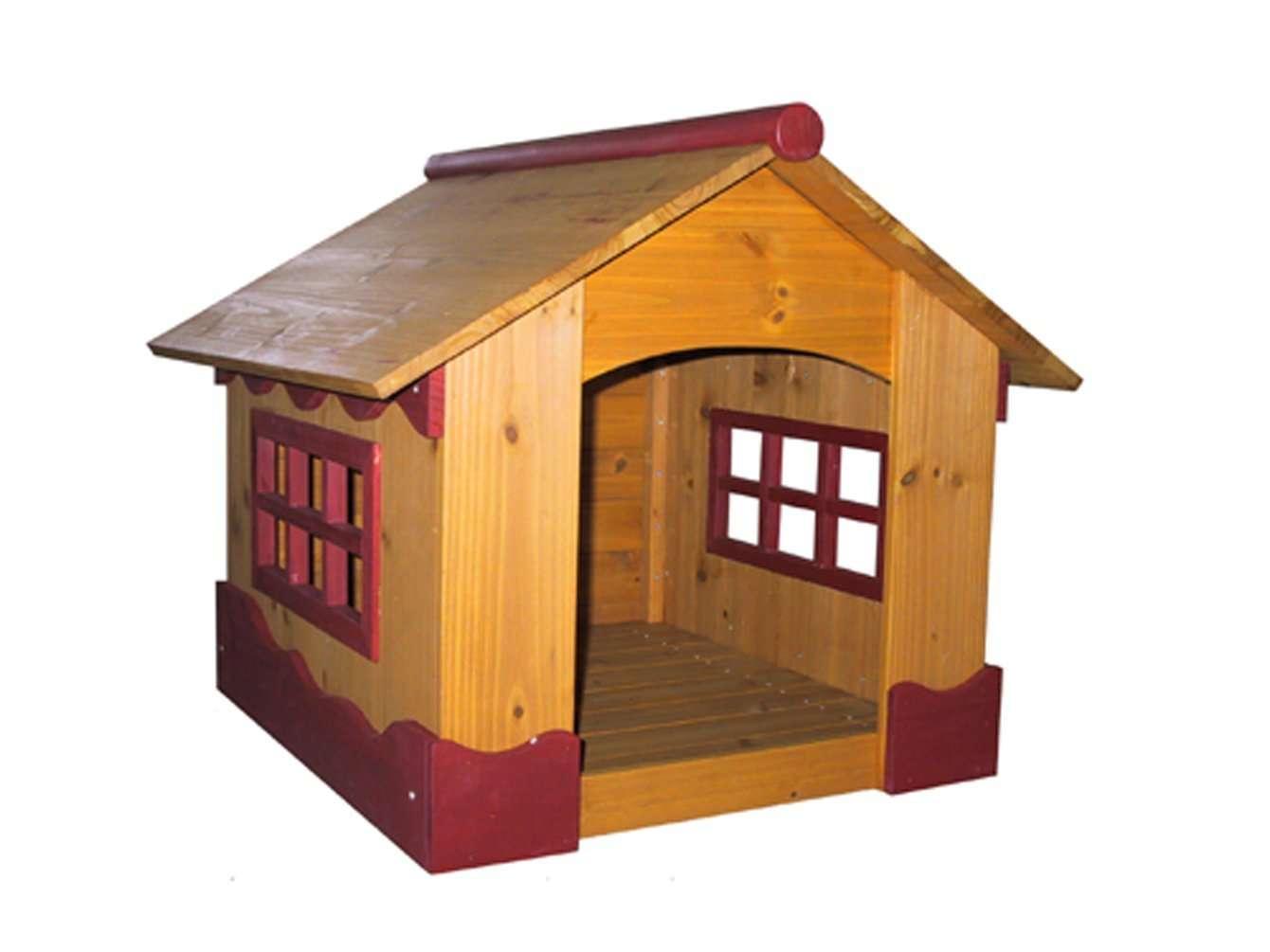 Casa para mascotas perros madera peque a vv4 3 - Casa pequena de madera ...