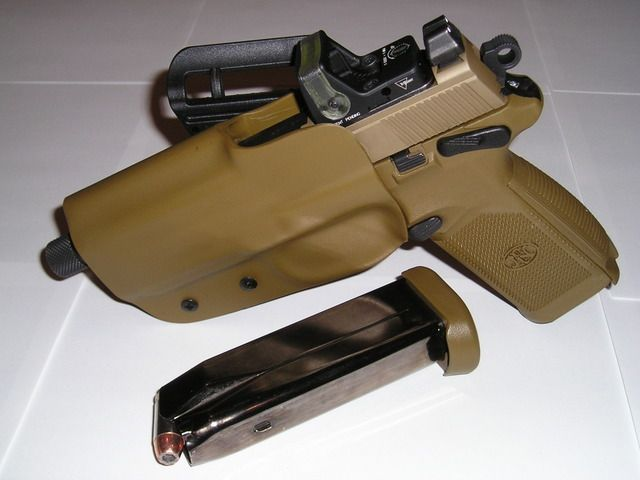 PIC's Of My 45 Tactical w/ Blade-Tech Holster & Trij RMR