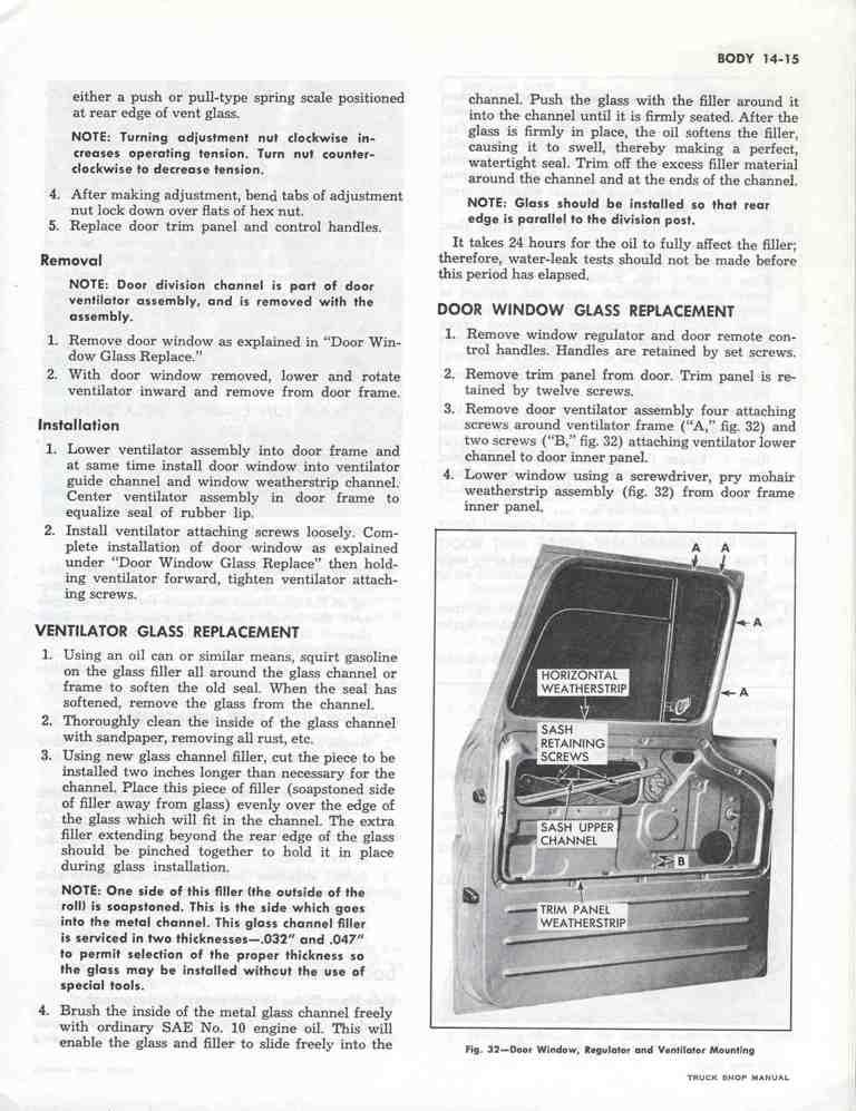 replacing door windows and regulators 66 c10 - The 1947