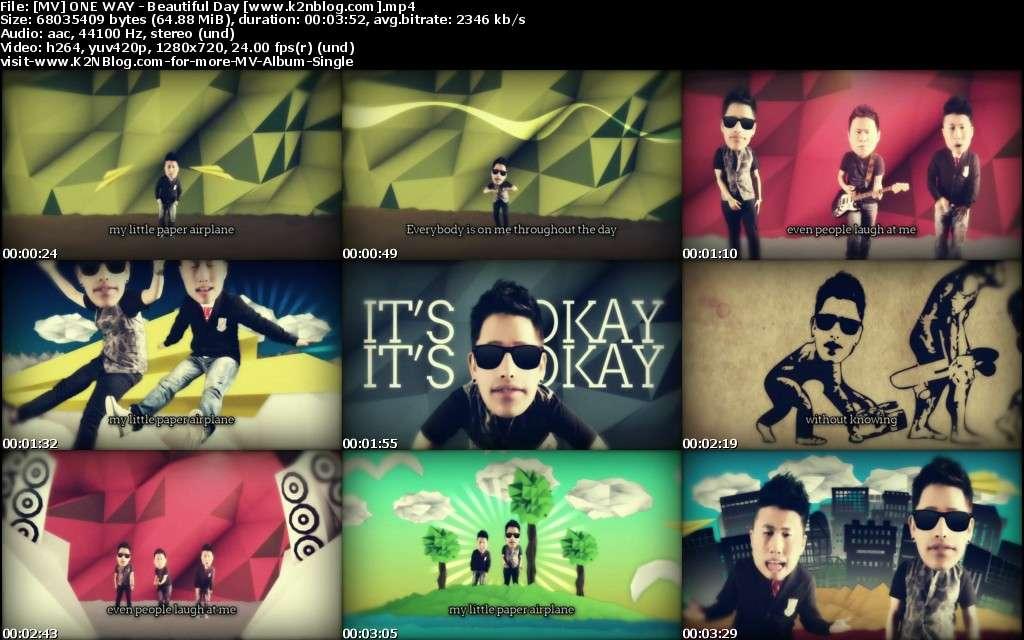 MV] ONE WAY - Beautiful Day [HD 720p Youtube]